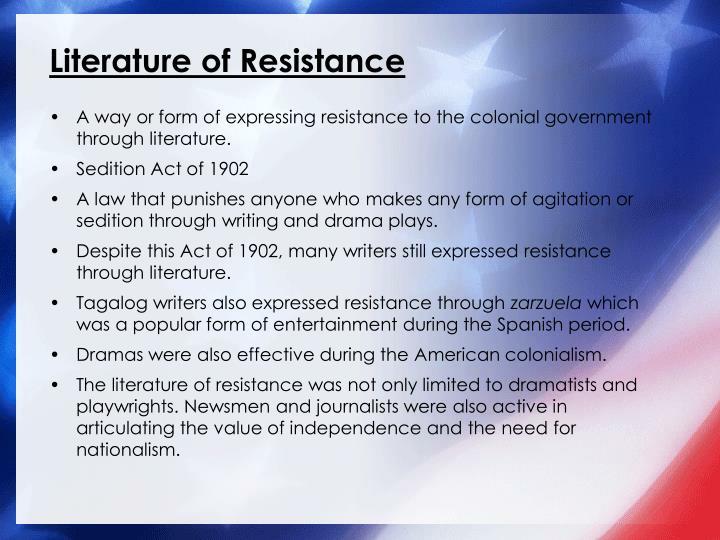 Literature of Resistance