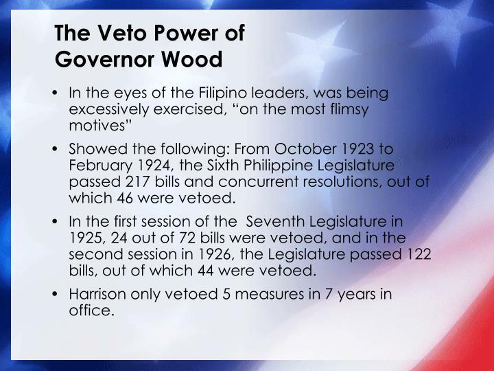 The Veto Power of