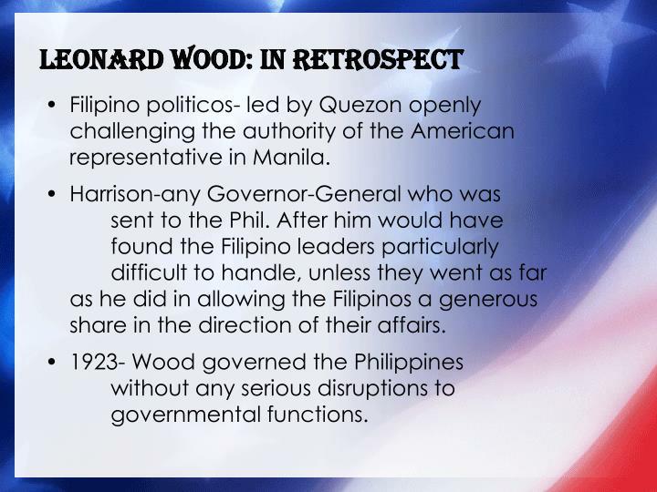 Leonard Wood: in Retrospect