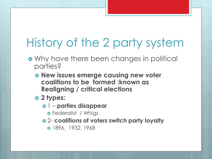 History of the 2 party system