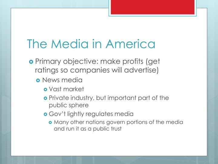 The Media in America