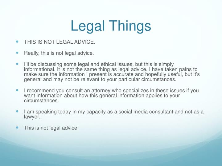 Legal Things