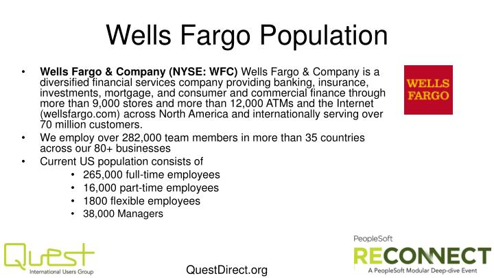 Wells Fargo Population