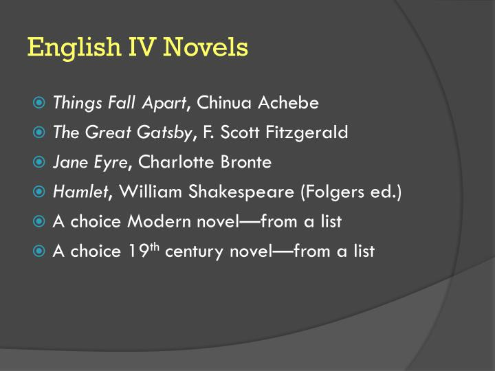 English IV Novels