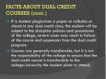 facts about dual credit courses cont2