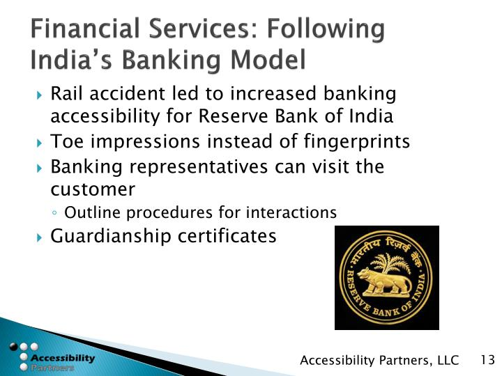 Financial Services: Following India's Banking Model