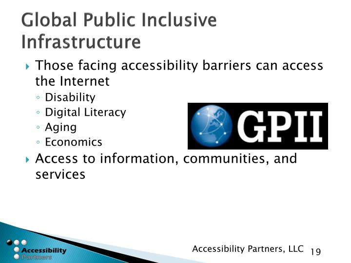 Global Public Inclusive Infrastructure