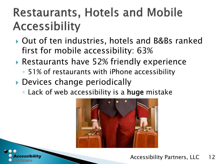 Restaurants, Hotels and Mobile Accessibility