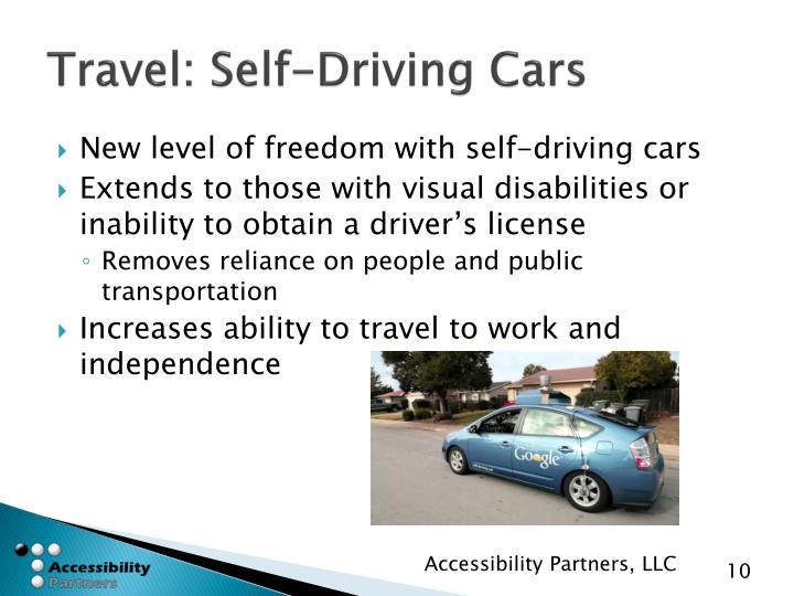 Travel: Self-Driving Cars