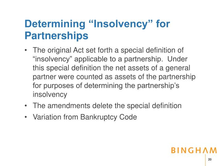 "Determining ""Insolvency"" for Partnerships"