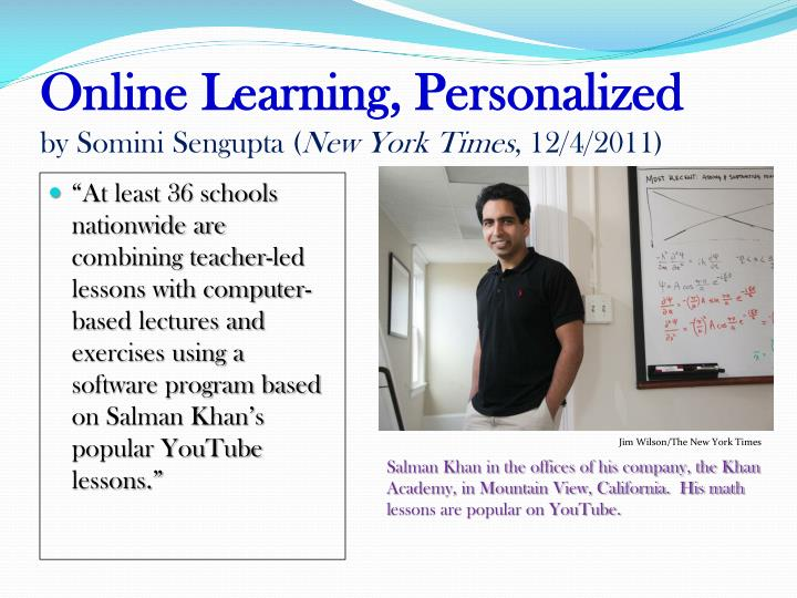 Online Learning, Personalized