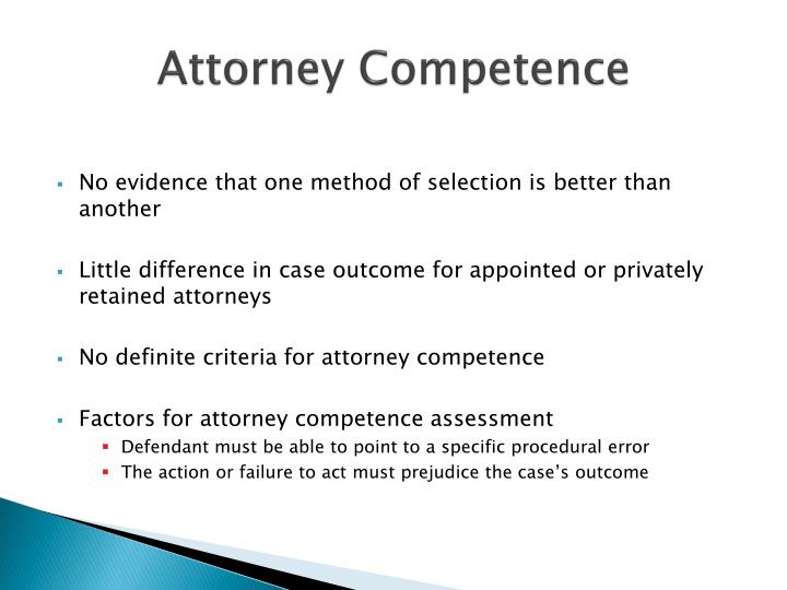 Attorney Competence