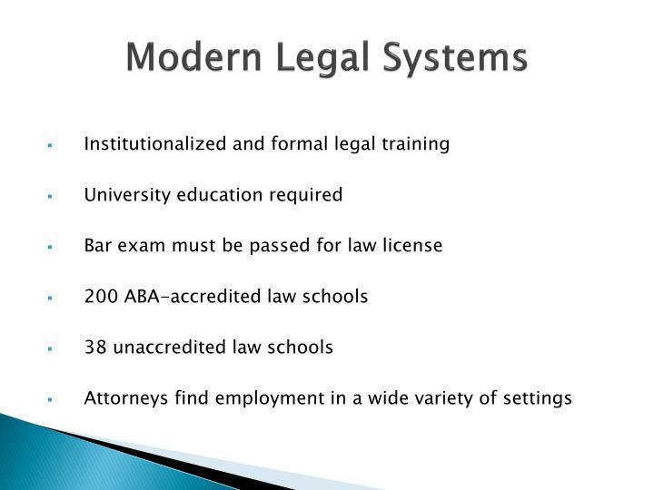 Modern Legal Systems
