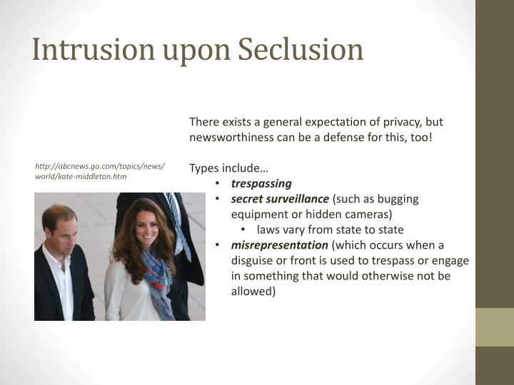 Intrusion upon Seclusion