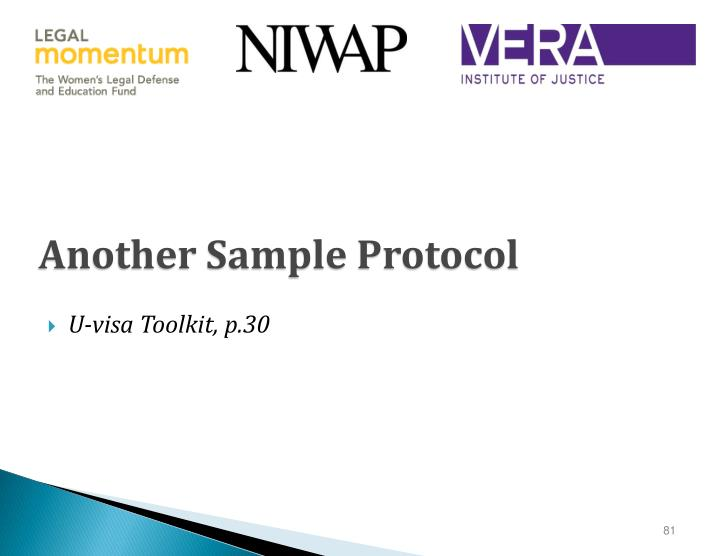 Another Sample Protocol