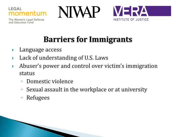 Barriers for Immigrants