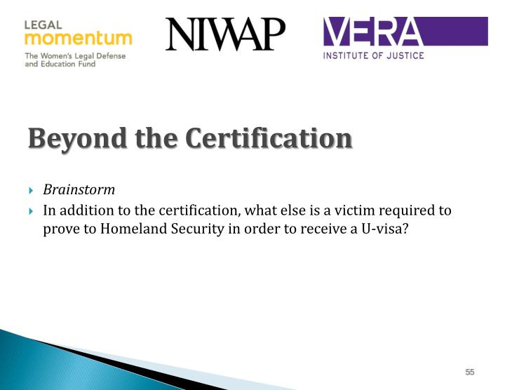 Beyond the Certification