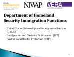 department of homeland security immigration functions