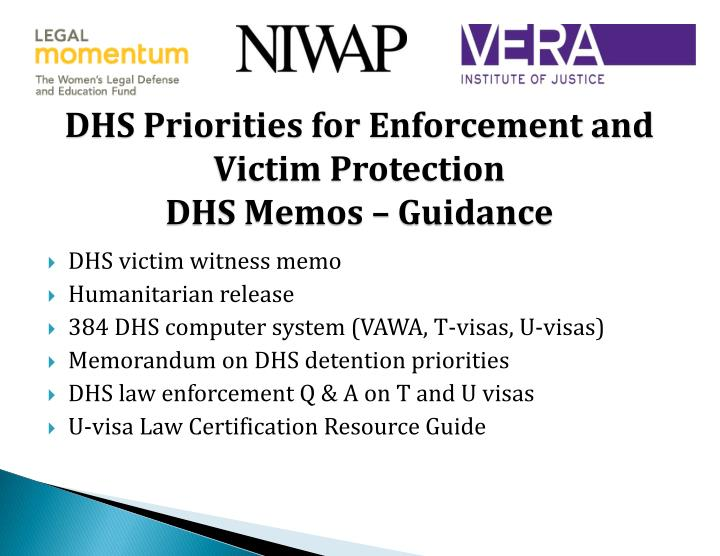DHS Priorities for Enforcement and