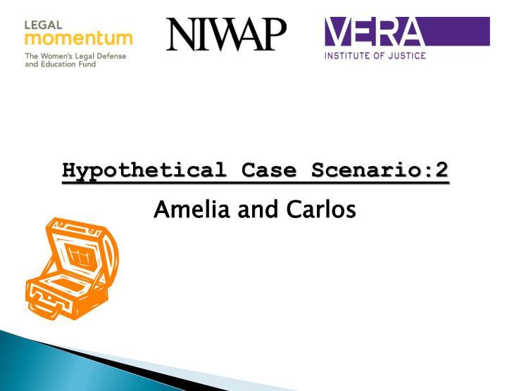 Hypothetical Case Scenario:2