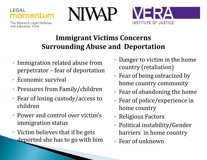 Immigrant Victims Concerns