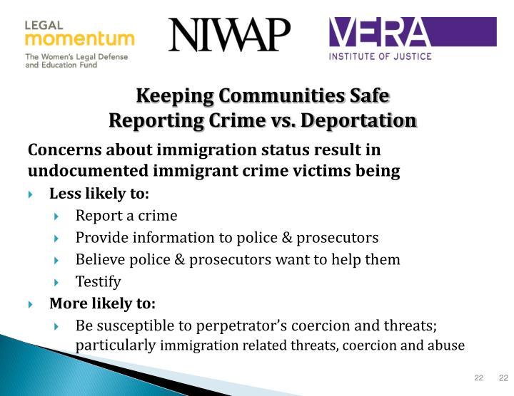 Keeping Communities Safe