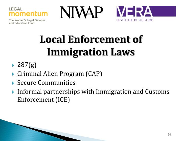 Local Enforcement of Immigration Laws