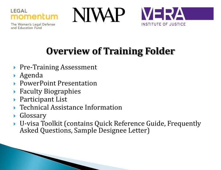 Overview of Training Folder