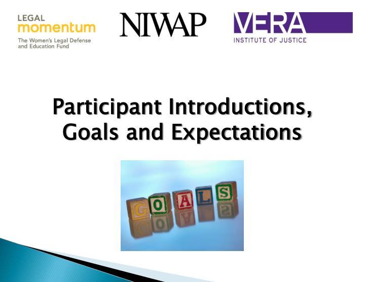 Participant Introductions,