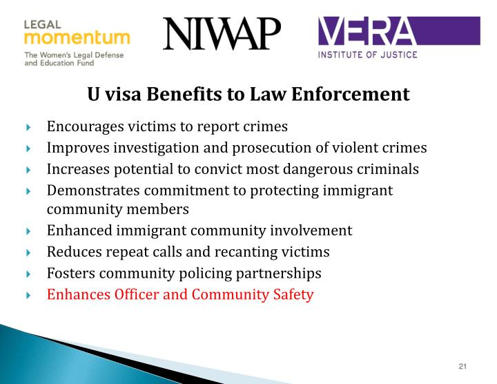U visa Benefits to Law Enforcement