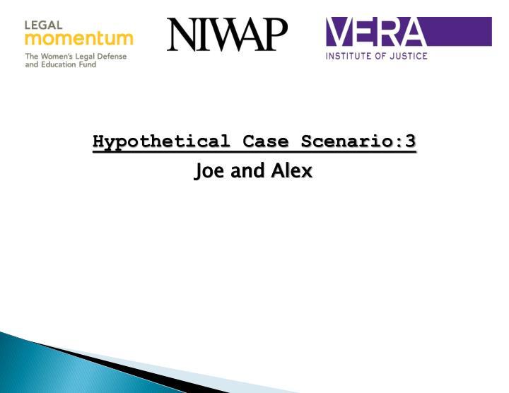 Hypothetical Case Scenario:3