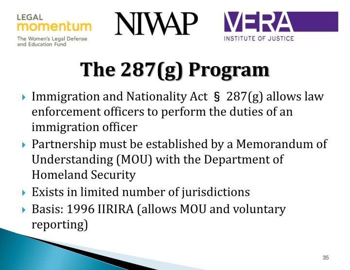 The 287(g) Program