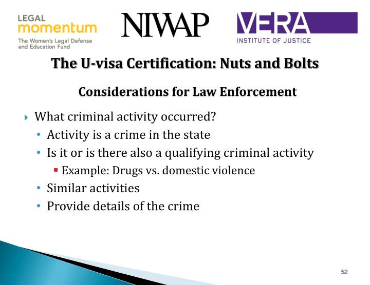 The U-visa Certification: Nuts and Bolts