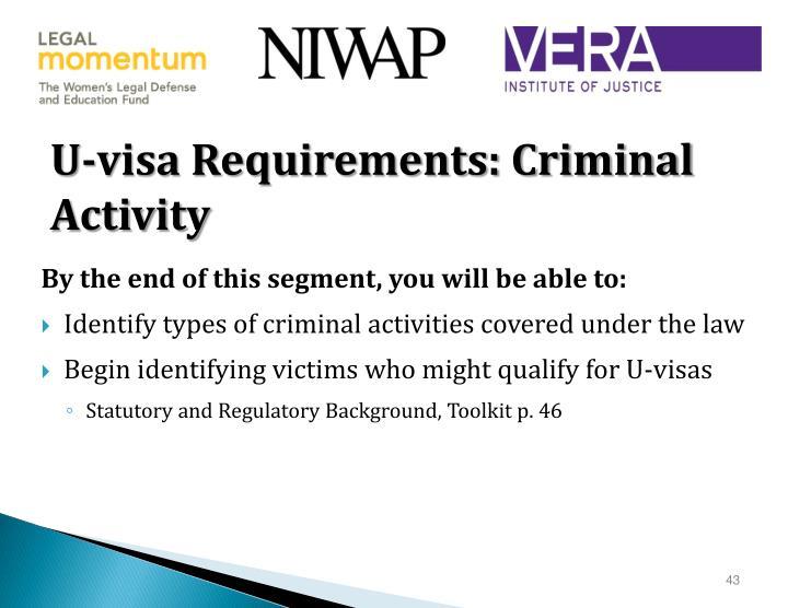 U-visa Requirements: Criminal Activity