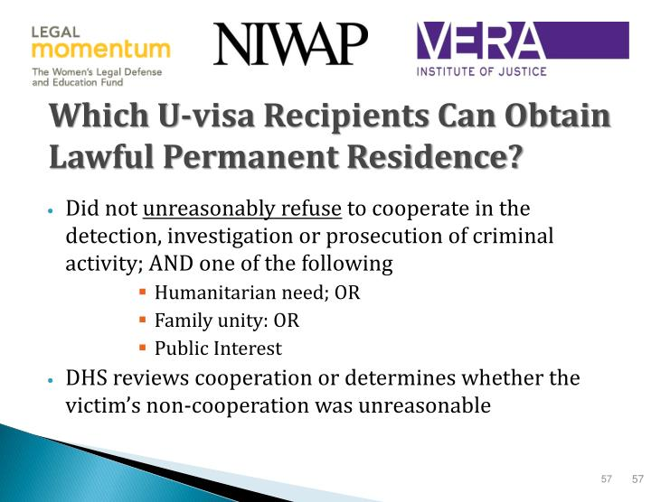 Which U-visa Recipients Can Obtain Lawful Permanent Residence?