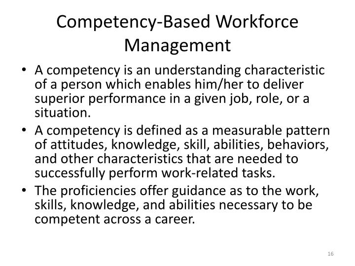 Competency-Based Workforce Management