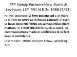 rff family partnership v burns levinson llp 991 n e 2d 1066 7 13
