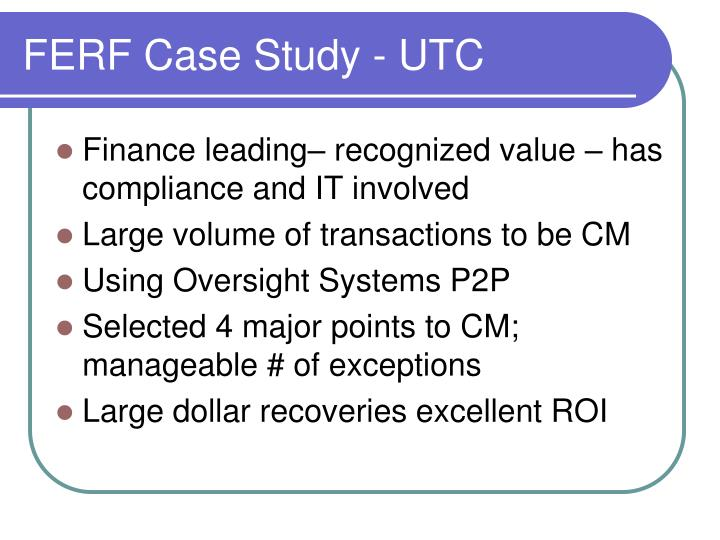 FERF Case Study - UTC