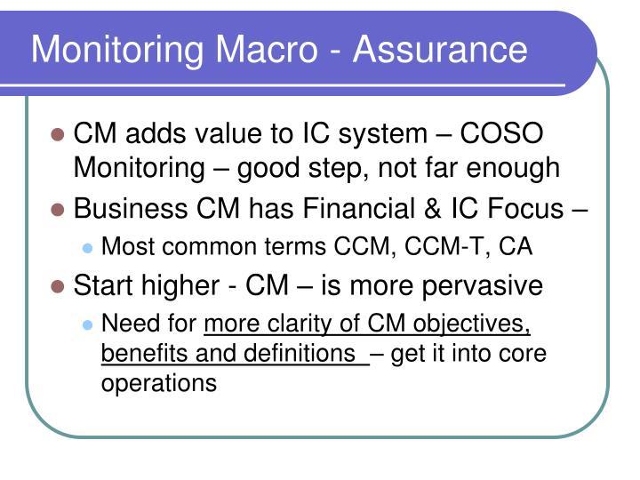 Monitoring Macro - Assurance