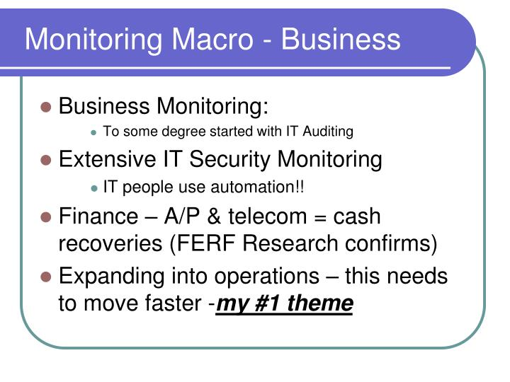 Monitoring Macro - Business