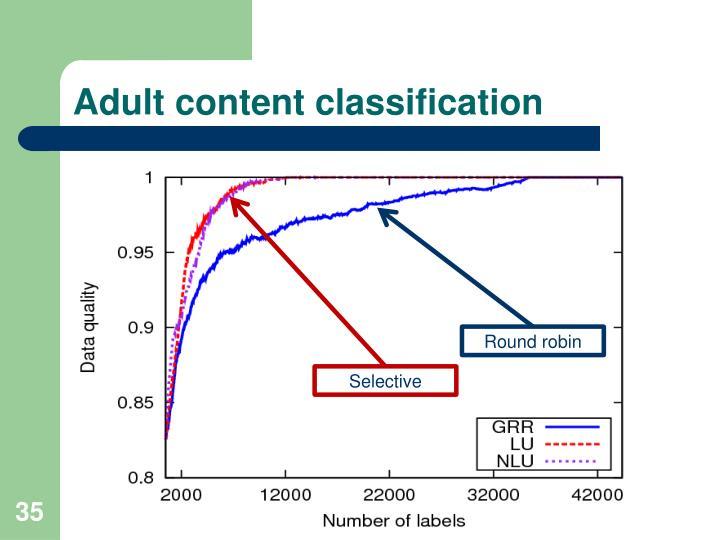 Adult content classification