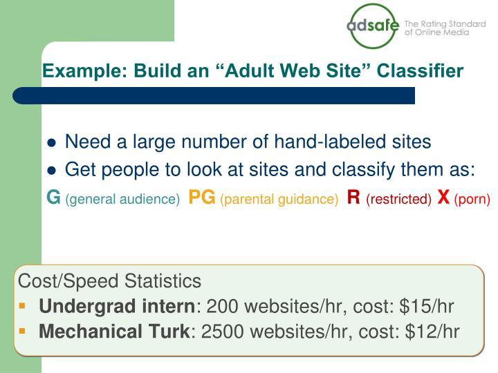 """Example: Build an """"Adult Web Site"""" Classifier"""