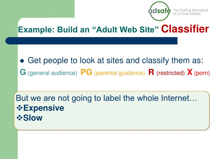 """Example: Build an """"Adult Web Site"""""""