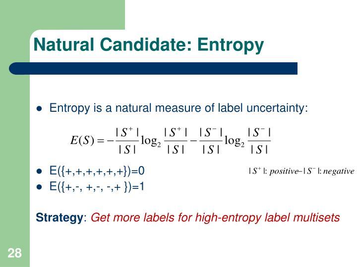 Natural Candidate: Entropy