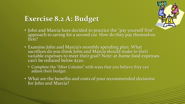 Exercise 8.2 A: Budget