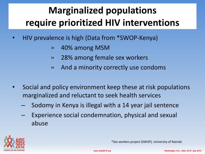 Marginalized populations