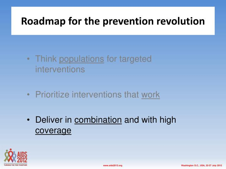 Roadmap for the