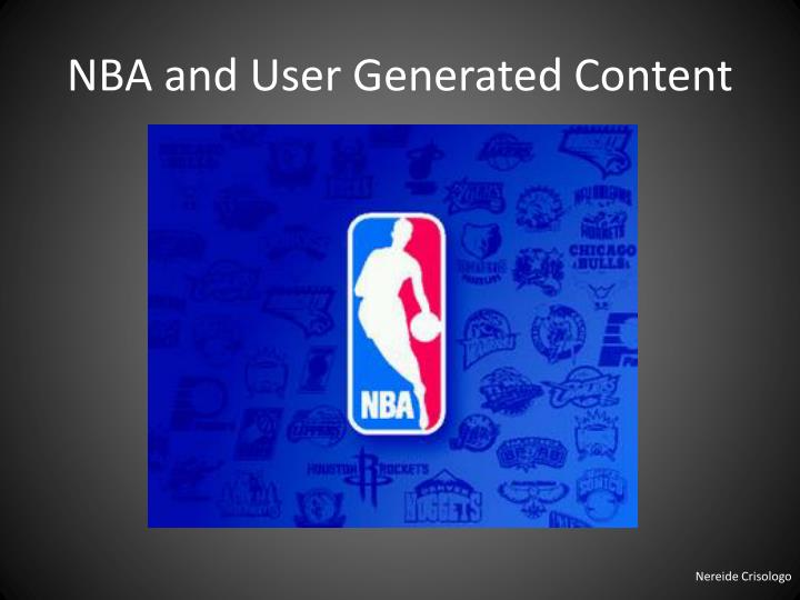 NBA and User Generated Content