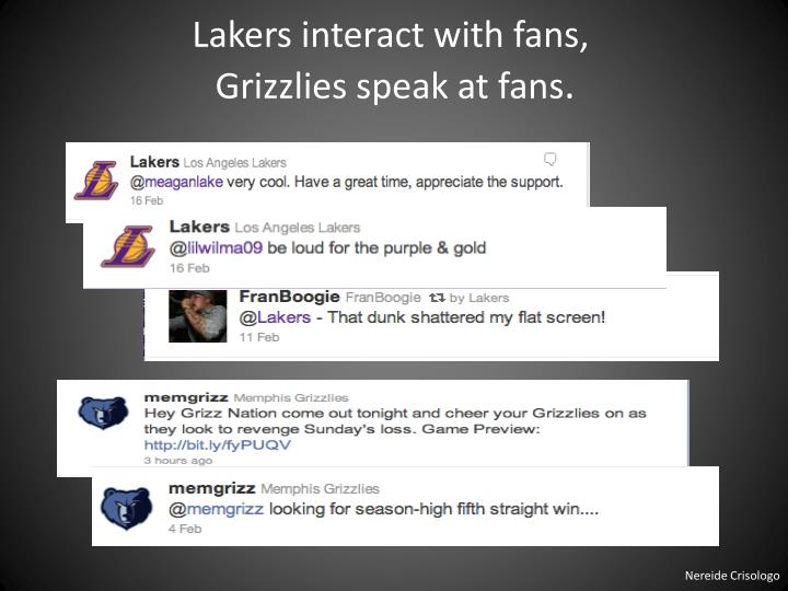 Lakers interact with fans,