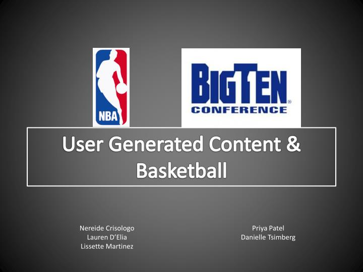 User generated content basketball